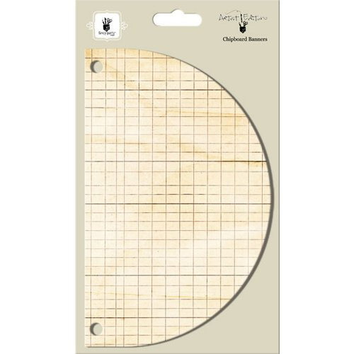 Fancy Pants Designs - Artist Edition Collection - Chipboard Banners - Half Circle