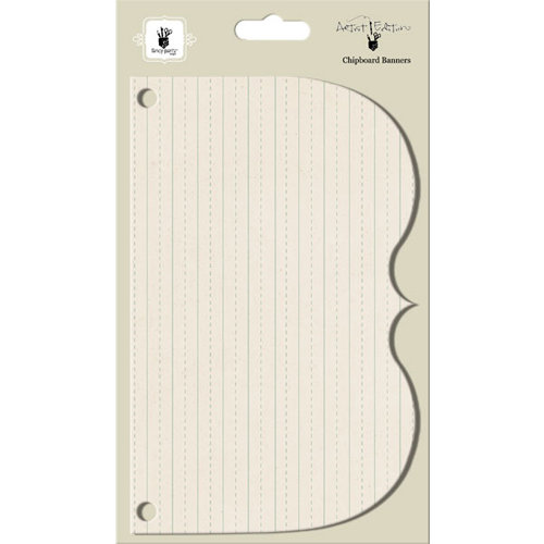 Fancy Pants Designs - Artist Edition Collection - Chipboard Banners - Half Bracket