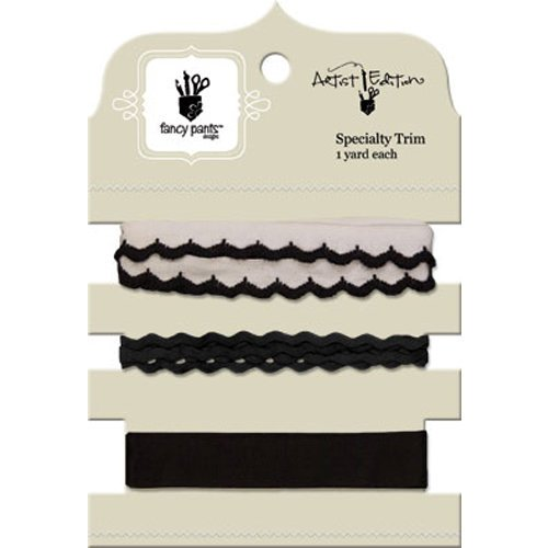 Fancy Pants Designs - Artist Edition Collection - Ribbon Card - Black