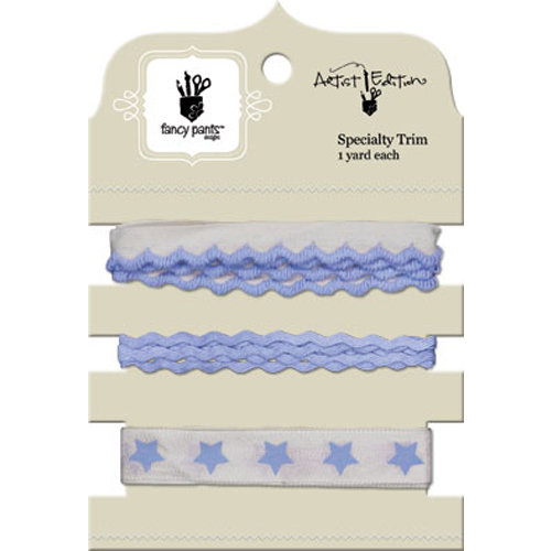 Fancy Pants Designs - Artist Edition Collection - Ribbon Card - Blue