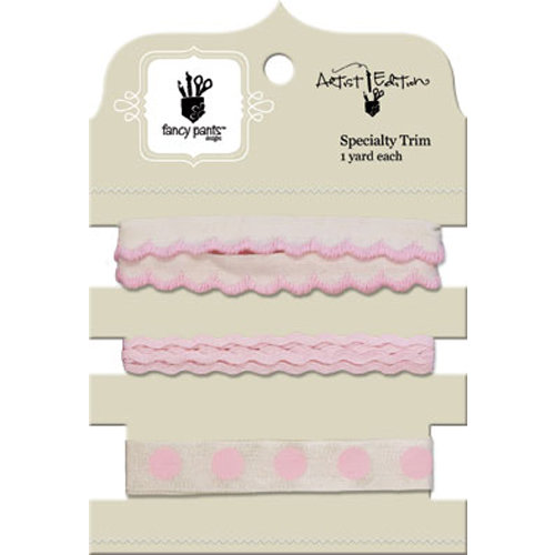 Fancy Pants Designs - Artist Edition Collection - Ribbon Card - Pink