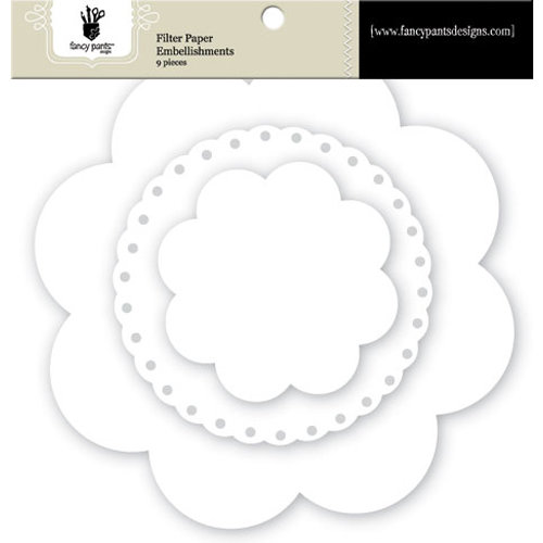 Fancy Pants Designs - Artist Edition Collection - Filter Flower Paper Embellishments - Floral