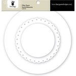 Fancy Pants Designs - Artist Edition Collection - Filter Flower Paper Embellishments - Circle and Scallop