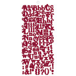 Fancy Pants Designs - My Family Collection - Alphabet Cardstock Stickers - Red