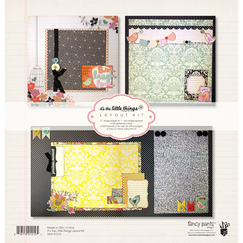 Fancy Pants Designs - It's the Little Things Collection - 12 x 12 Layout Kit