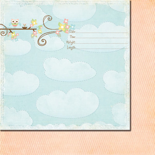 Fancy Pants Designs - Baby Mine Collection - 12 x 12 Double Sided Paper - Welcome Baby