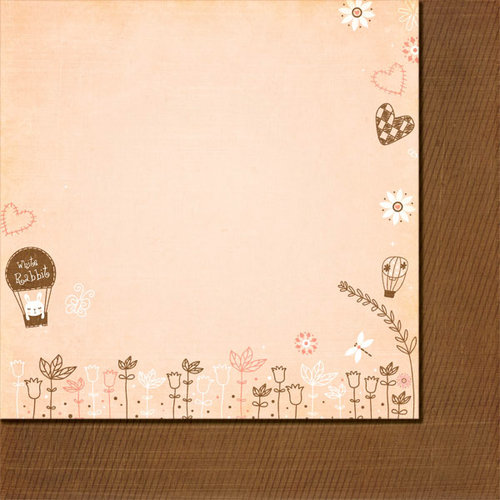 Fancy Pants Designs - Baby Mine Collection - 12 x 12 Double Sided Paper - White Rabbit
