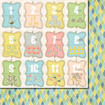 Fancy Pants Designs - Baby Mine Collection - 12 x 12 Double Sided Paper - Baby Mine Cards