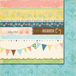 Fancy Pants Designs - Baby Mine Collection - 12 x 12 Double Sided Paper - Baby Mine Strips