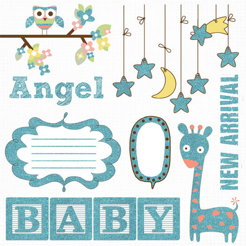 Fancy Pants Designs - Baby Mine Collection - Glitter Cuts Transparencies