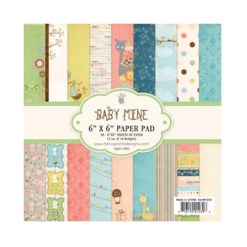 Fancy Pants Designs - Baby Mine Collection - 6 x 6 Paper Pad