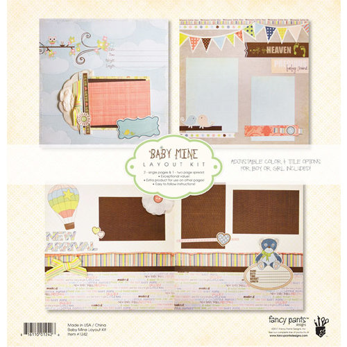 Fancy Pants Designs - Baby Mine Collection - 12 x 12 Layout Kit
