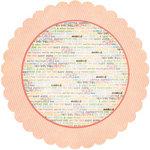 Fancy Pants Designs - Baby Mine Collection - 12 x 12 Die Cut Paper - Flower