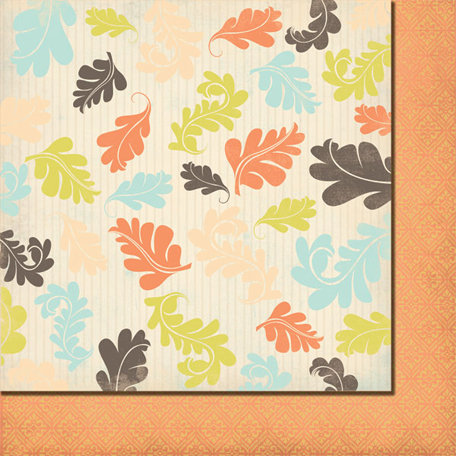 Fancy Pants Designs - Summer's End Collection - 12 x 12 Double Sided Paper - Falling Leaves