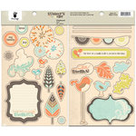 Fancy Pants Designs - Summer's End Collection - Chipboard Stickers - Shapes
