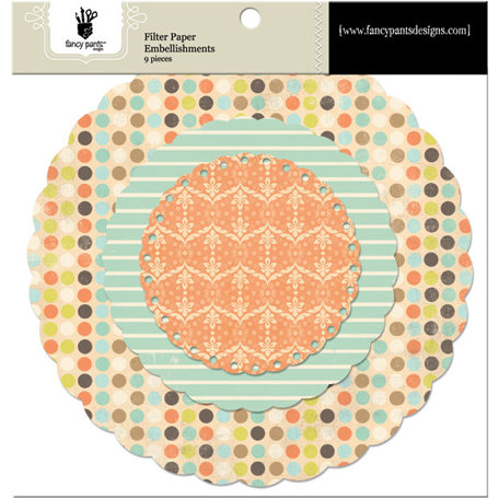 Fancy Pants Designs - Summer's End Collection - Filter Flower Paper Embellishments