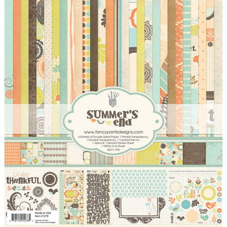 Fancy Pants Designs - Summer's End Collection - 12 x 12 Paper Kit