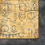 Fancy Pants Designs - Oct 31st Collection - Halloween - 12 x 12 Double Sided Paper - Jack-O-Lantern