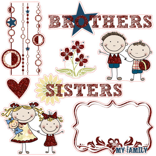 Fancy Pants Designs - My Family Collection - 12 x 12 Glitter Cuts Transparencies