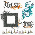 Fancy Pants Designs - Oct 31st Collection - Halloween - Glitter Cuts Transparencies