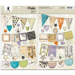 Fancy Pants Designs - Oct 31st Collection - Halloween - Chipboard Stickers - Banners