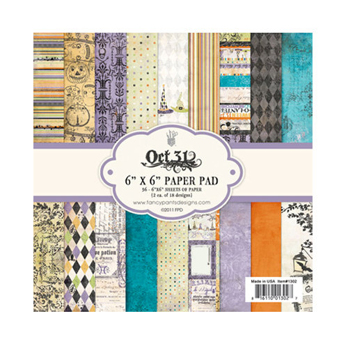Fancy Pants Designs - Oct 31st Collection - Halloween - 6 x 6 Paper Pad