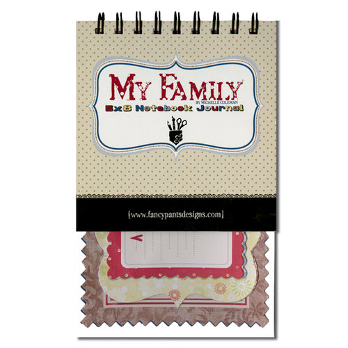 Fancy Pants Designs - My Family Collection - 5 x 8 Notebook Journal, CLEARANCE