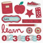 Fancy Pants Designs - Off to School Collection - Glitter Cuts Transparencies