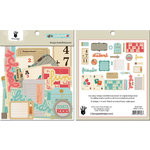 Fancy Pants Designs - Off to School Collection - Design Embellishments - Die Cut Cardstock Pieces