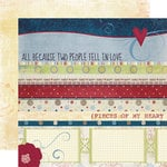 Fancy Pants Designs - My Family Collection - 12 x 12 Double Sided Paper - Strips