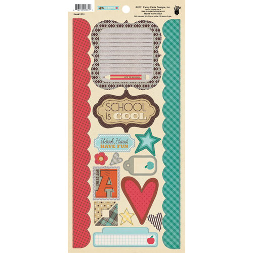 Fancy Pants Designs - Off to School Collection - Cardstock Stickers - Element