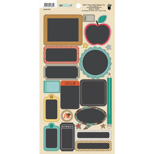 Fancy Pants Designs - Off to School Collection - Cardstock Stickers - Chalk