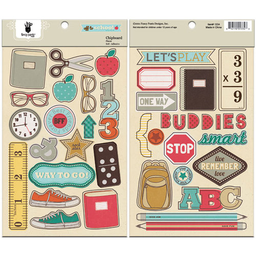 Fancy Pants Designs - Off to School Collection - Chipboard Stickers - Shapes