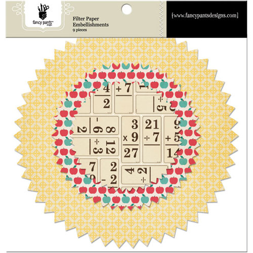Fancy Pants Designs - Off to School Collection - Filter Flower Paper Embellishments