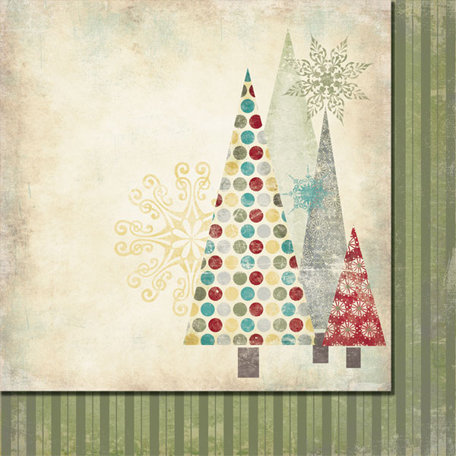Fancy Pants Designs - Saint Nick Collection - Christmas - 12 x 12 Double Sided Paper - Tannenbaum