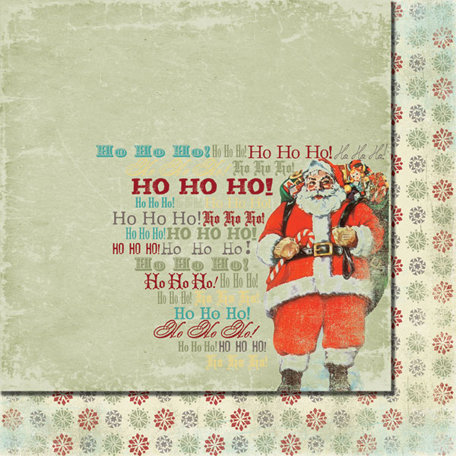 Fancy Pants Designs - Saint Nick Collection - Christmas - 12 x 12 Double Sided Paper - Ho-Ho-Ho