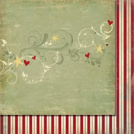 Fancy Pants Designs - Saint Nick Collection - Christmas - 12 x 12 Double Sided Paper - Joy