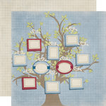 Fancy Pants Designs - My Family Collection - 12 x 12 Double Sided Paper - Family Tree