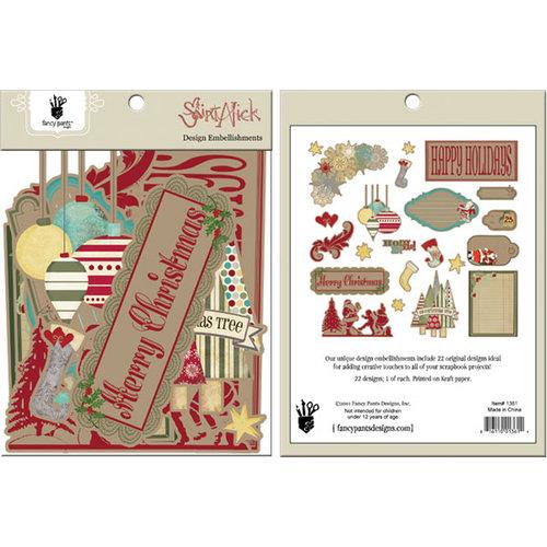 Fancy Pants Designs - Saint Nick Collection - Christmas - Design Embellishments - Die Cut Cardstock Pieces
