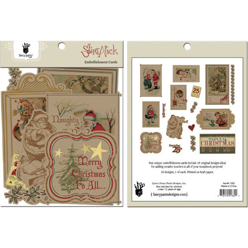 Fancy Pants Designs - Saint Nick Collection - Christmas - Card Embellishments - Die Cut Cardstock Pieces