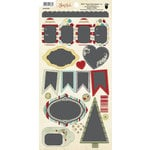 Fancy Pants Designs - Saint Nick Collection - Christmas - Cardstock Stickers - Chalk