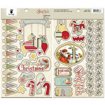 Fancy Pants Designs - Saint Nick Collection - Christmas - Chipboard Stickers - Shapes