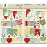 Fancy Pants Designs - Saint Nick Collection - Christmas - Chipboard Stickers - Banners