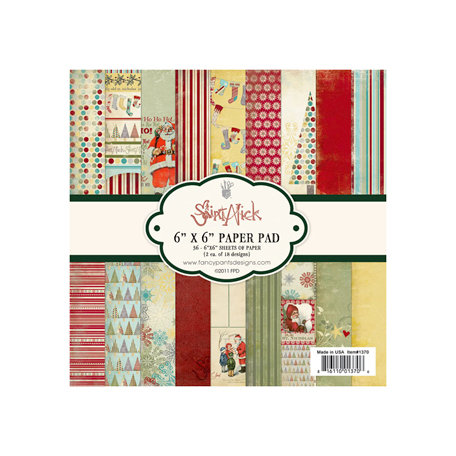 Fancy Pants Designs - Saint Nick Collection - Christmas - 6 x 6 Paper Pad