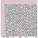Fancy Pants Designs - Love Story Collection - 12 x 12 Double Sided Paper - One Heart