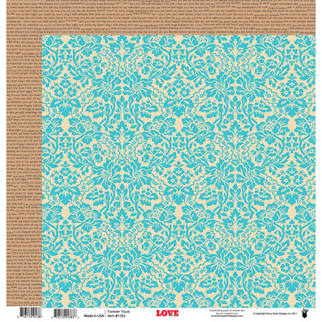 Fancy Pants Designs - Love Story Collection - 12 x 12 Double Sided Paper - Forever Yours