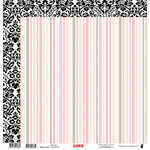 Fancy Pants Designs - Love Story Collection - 12 x 12 Double Sided Paper - Affection