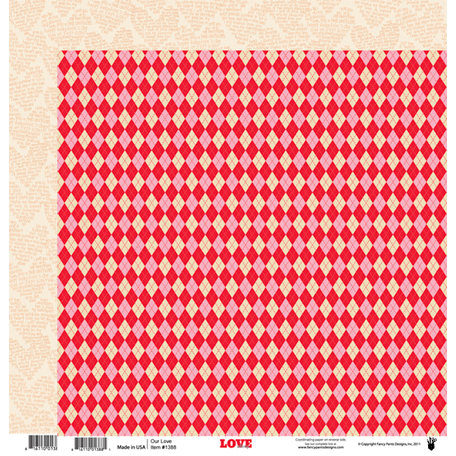 Fancy Pants Designs - Love Story Collection - 12 x 12 Double Sided Paper - Our Love