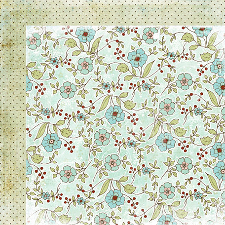 Fancy Pants Designs - Winterland Collection - 12 x 12 Double Sided Paper - Blustery