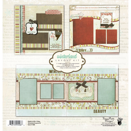 Fancy Pants Designs - Winterland Collection - 12 x 12 Layout Kit